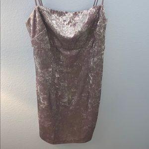 Metallic/velvet body in dress